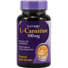 Купить Natrol L-Carnitine 500мг 30капс