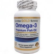 Купить California Gold Nutrition Оmega-3 Premium 100 желатиновых капсул