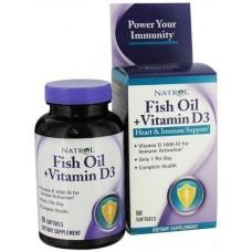Купить Natrol Fish Oil & Vitamin D3 90 гелькапсул