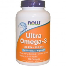 Купить NOW Ultra Omega-3 500 EPA / 250 DHA 180 капс