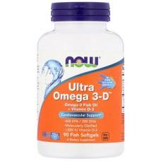 Купить NOW Ultra Omega 3-D 90 рыбных капс