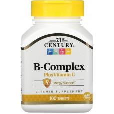 Купить 21st Century B-Complex plus Vitamin C 100 таб