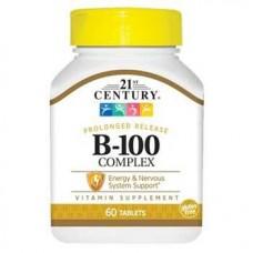 Купить 21st Century Комплекс B-100 длительное высвобождение 60 таблеток