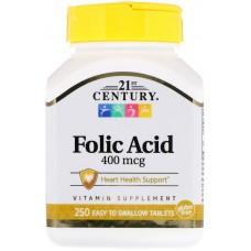 Купить 21st Century Folic Acid 400 мкг 250 таб