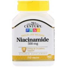 Купить 21st Century Niacinamide 500мг 110 таб