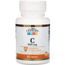 Купить 21st Century Vitamin C 1000мг 60таб