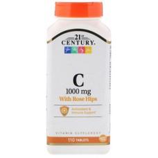 Купить 21st Century Vitamin C 1000 мг 110 таб (с плодами шиповника)
