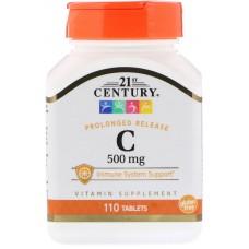 Купить 21st Century Vitamin C 500 мг замедленное высвобождение 110таб