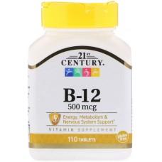 Купить 21st Century Витамин B-12 500 мкг 110 таб