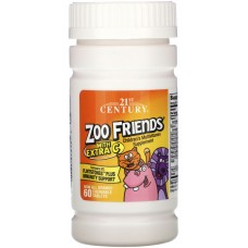Купить 21st Century Zoo Friends с дополнительным витамином C 60 жев таб