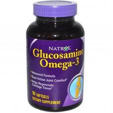 Купить Natrol Glucosamine Omega-3 90капс