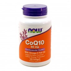 Купить NOW Co Q10 with Omega-3 Fish Oil 120 гел.капс