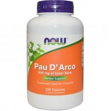 Купить NOW Pau D Arco 250 капсул