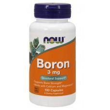 Купить NOW Boron 3mg 100 капс
