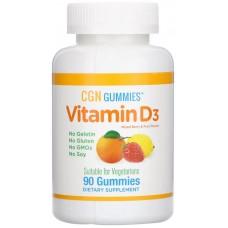 Купить California Gold Nutrition Gummies Vitamin D-3 2000 МЕ 90 жев. паст.