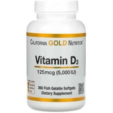 Купить California Gold Nutrition Vitamin D3 5000ME (125mcg) 360 капс