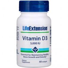 Купить Life Extension Vitamin D-3 5000 МЕ 60 гелькапсул