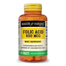 Купить Mason Natural Folic Acid 800 мкг 100 таб