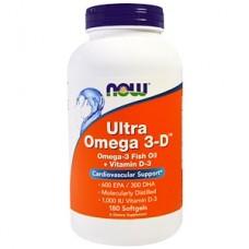 Купить Now Foods Ultra Omega 3-D 180 гель капс