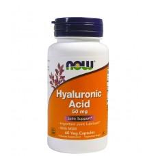 Купить NOW Hyaluronic Acid 50 mg 60 капс