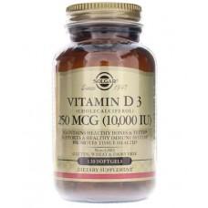 Купить Solgar Vitamin D3 10000IU (250 mcg) 120 капс