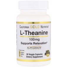 Купить California Gold Nutrition L-Theanine AlphaWave 100 мг 30 капс