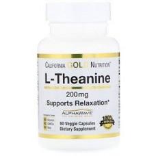 Купить California Gold Nutrition L-Theanine AlphaWave 200 мг 60 капс