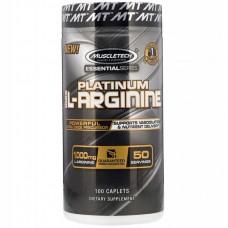 Купить MuscleTech Essential Series Platinum 100% L-Arginine 1000mg 100 таб.